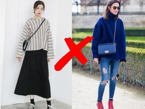 不管是穿大衣还是羽绒服,少用这3种毛衣做内搭,显胖又不舒服!