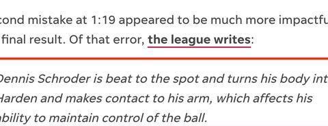 火箭雷霆最后两分钟裁判报告,哈登两次吃亏,一数据是输球真因