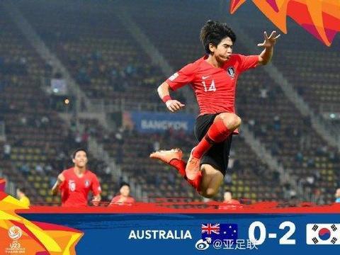 U23亚洲杯半决赛战报,韩国2比0澳大利亚获奥运门票,决赛PK沙特