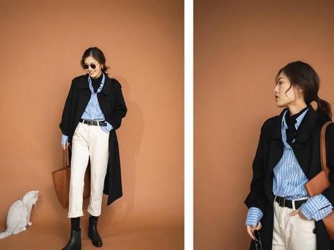 谁说黑大衣不流行了,6种时尚穿搭合集,高级又时髦,太好看