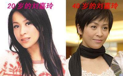 20岁的容貌和4、50岁有什么区别?看看这几位女明星的对比照