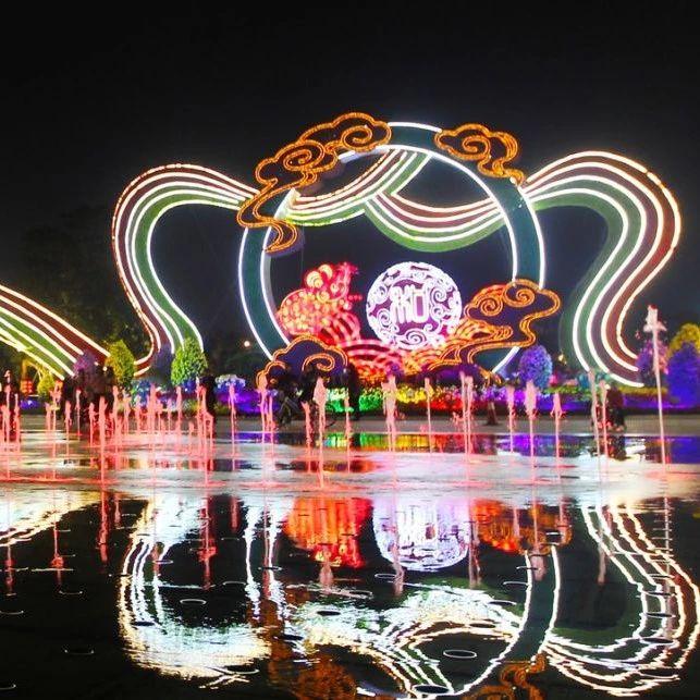 """市中心广场音乐光影喷泉开放夜间表演!这里还有""""多媒体视觉秀""""!"""