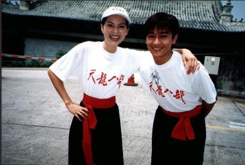 李若彤当年在《天龙八部》剧组练武的旧照曝光