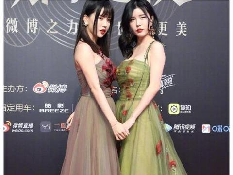 她们是娱乐圈整容后最美双胞胎,同穿一款裙,一个蜂腰一个胖肉腰
