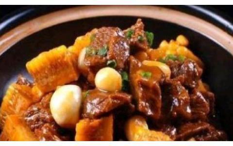 精选美食:醋香海带、培根猪肚菌、牛腩炖玉米、咖喱鸡块