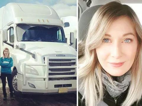 波兰选美小姐改行做卡车司机:因为爱情