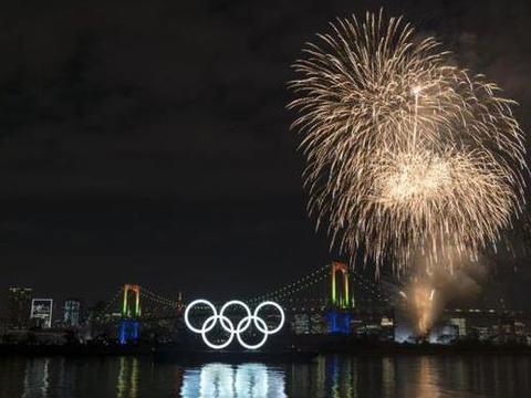 2020奥运会倒计时6个月 东京举行五环亮灯仪式