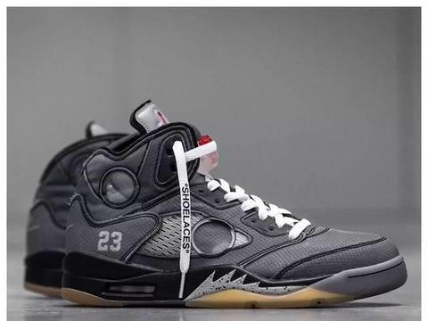 还有配套服饰?OFF-WHITE? x Air Jordan 5 细节图曝光!