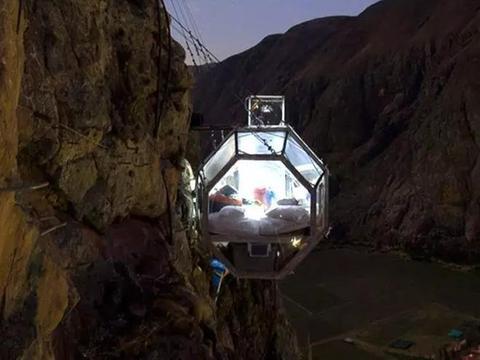秘鲁的悬崖酒店,住一晚要2000元,可容纳8人入住
