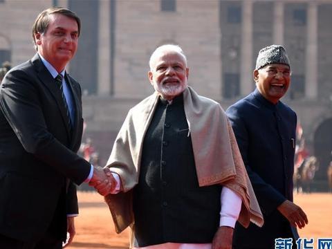 """巴西总统博索纳罗访问印度 将出席印度""""共和国日""""庆祝活动"""
