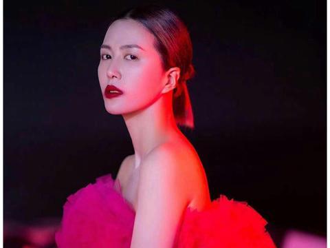 谭维维粉红云朵裙