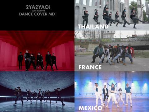SUPER JUNIOR公开与全球歌迷进行的新歌《2YA2YAO!》练舞视频!