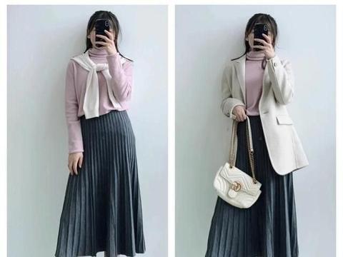 冬天还是喜欢穿裙子?百搭的针织百褶裙,经典不踩雷!