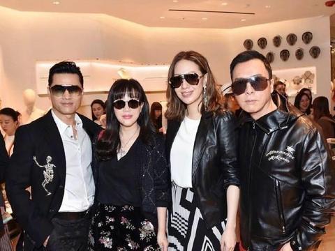 甄子丹和关之琳、吕良伟一起拜年,还合体劝导戴口罩!