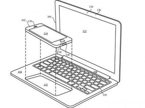 苹果版TNT?新专利显示iPhone/iPad可嵌入MacBook