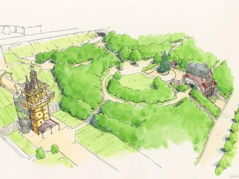 《千与千寻》《龙猫》等电影场景将被还原,吉卜力公园概念图公布