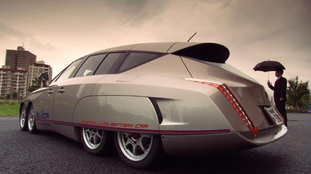 电动车也有高性能,日本发明8轮电动汽车,速度堪比超级跑车