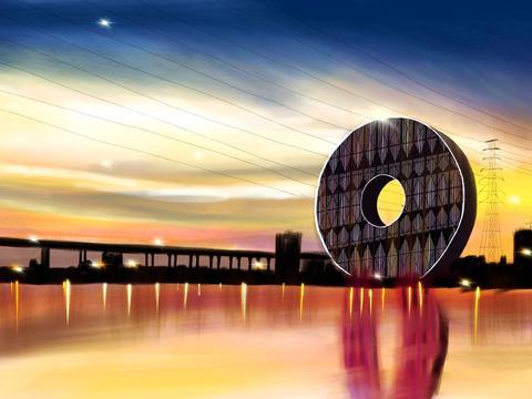 """广州这幢10亿建设的大厦,设计灵感源自""""古玉璧"""",游客:像铜钱"""
