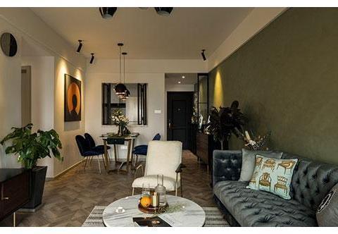 复古精致的小户型装修,客厅装飘窗真实用,色彩搭配真漂亮