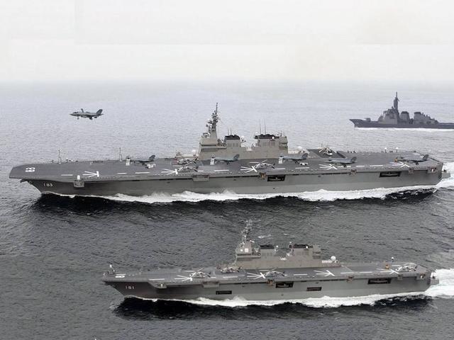 日本航母不再伪装,出云级搭载F35战机,八八舰队变身航母战斗群
