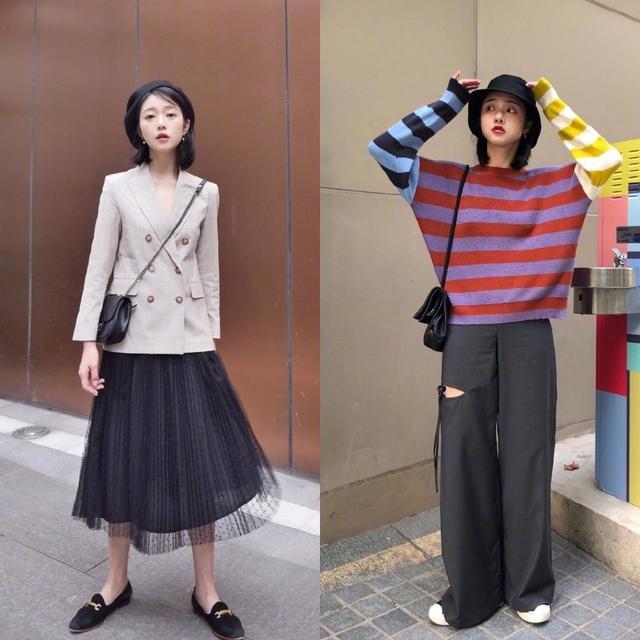 可盐可甜的春季穿搭,中长款外套搭配伞裙,在初春季节温柔又时髦