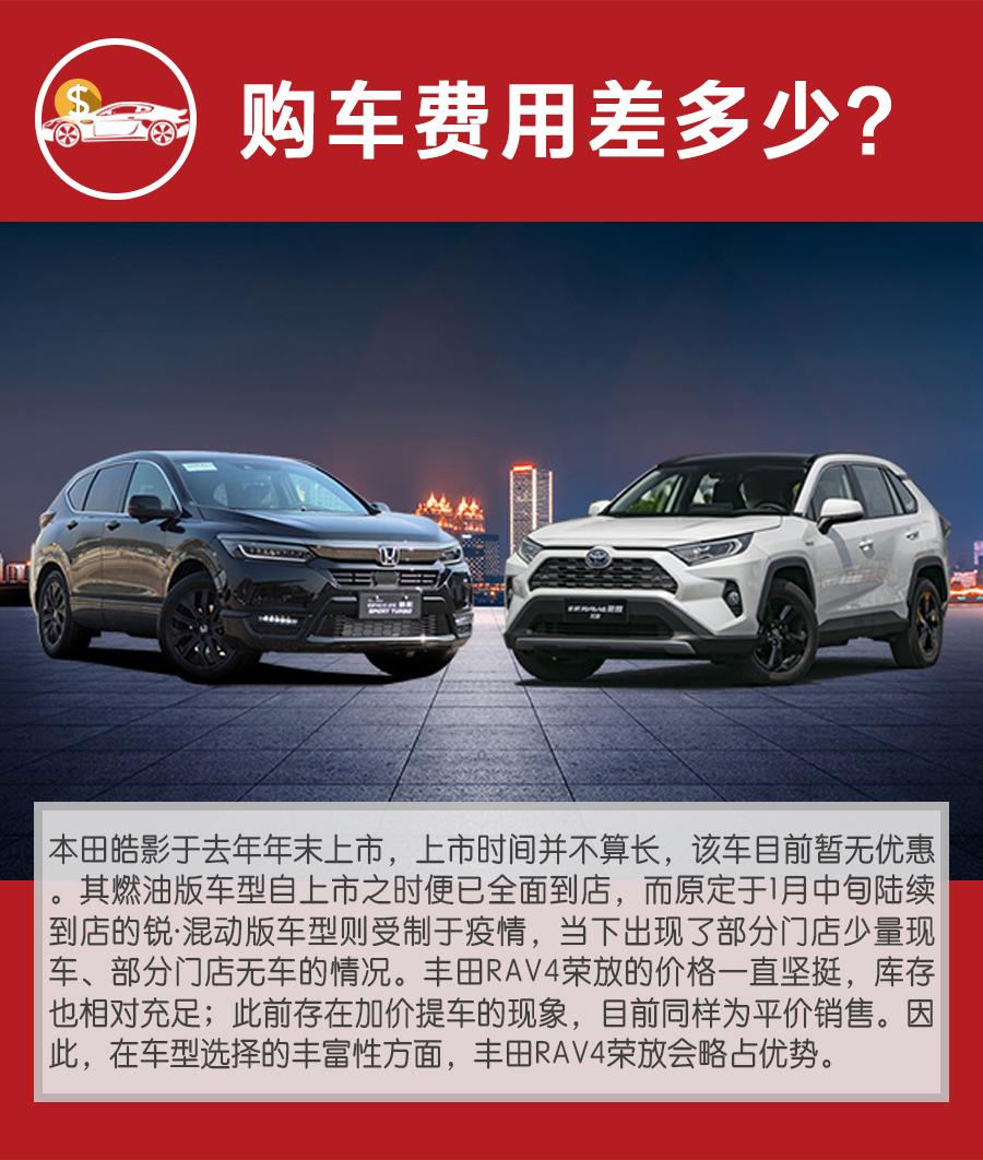 当红日系SUV购车、养车谁更省?本田皓影对比丰田RAV4荣放