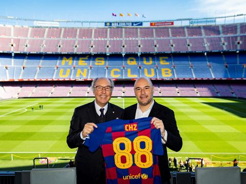 巴塞罗那足球俱乐部与数字货币平台达成全球合作伙伴关系