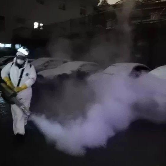 冒着风雪 江西志愿者进入武汉市区开始消杀作业