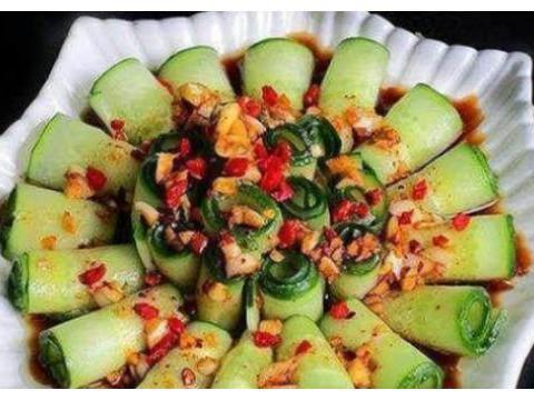 简单家常菜:五彩窝窝头,酸辣鹅肠,香辣黄瓜卷,口水鸡