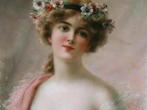 法国艺术家人体油画中身披轻纱的性感女神,丰满逼真