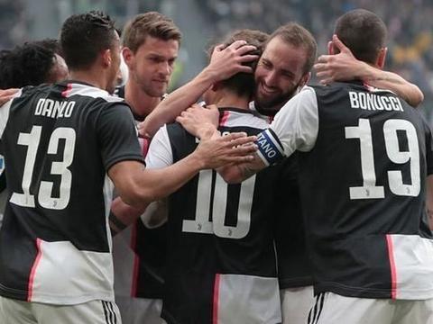 尤文图斯2-0布雷西亚 C罗缺阵 迪巴拉任意球建功 夸德拉多破门