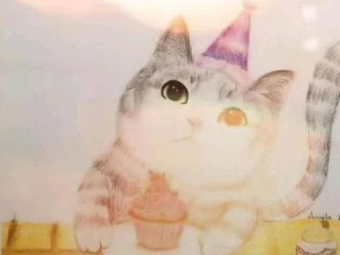 李湘晒王诗龄的绘画作品,猫星人栩栩如生,网友称像Angela自画
