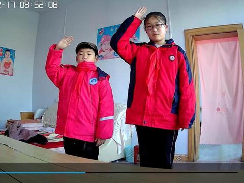 涧池初级中学:千名师生向国旗敬礼