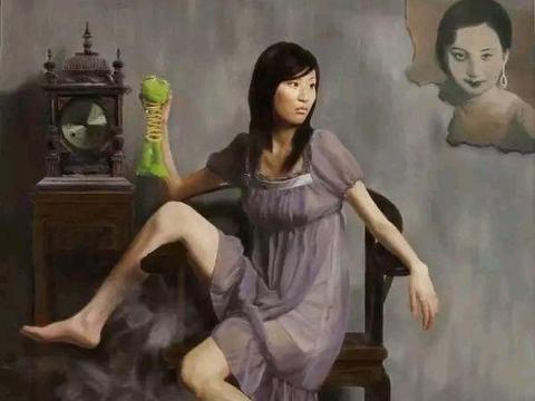 青年艺术家陈海强写实人体油画欣赏,细腻逼真