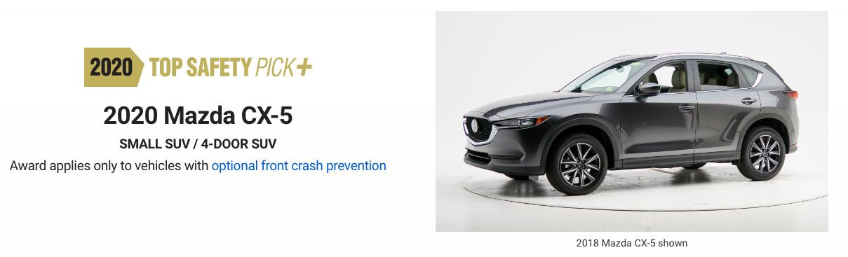 """TSP+""顶级安全评级,性能独树一帜,CX-5月销仅两千多辆"