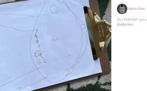 """陈冠希晒女儿自画像,被赞是""""灵魂画手"""",3岁的她现在长这样"""