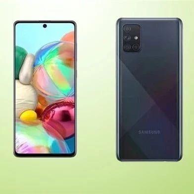 三星发布Galaxy A71:6.7英寸SAMOLED挖孔屏 4500mAh大电池