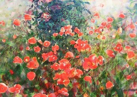 塞尔维亚画家画的花朵,让人惊叹不已