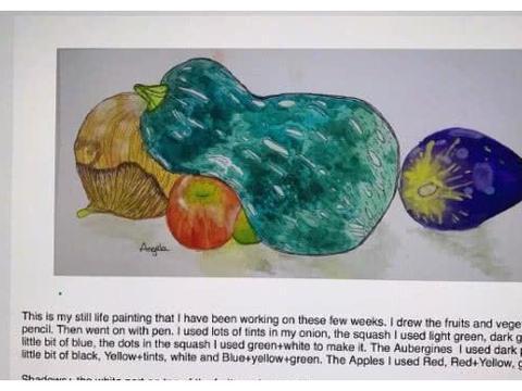 十岁王诗龄晒画作,还特意用英文解说大秀才华,李湘育儿方式获赞