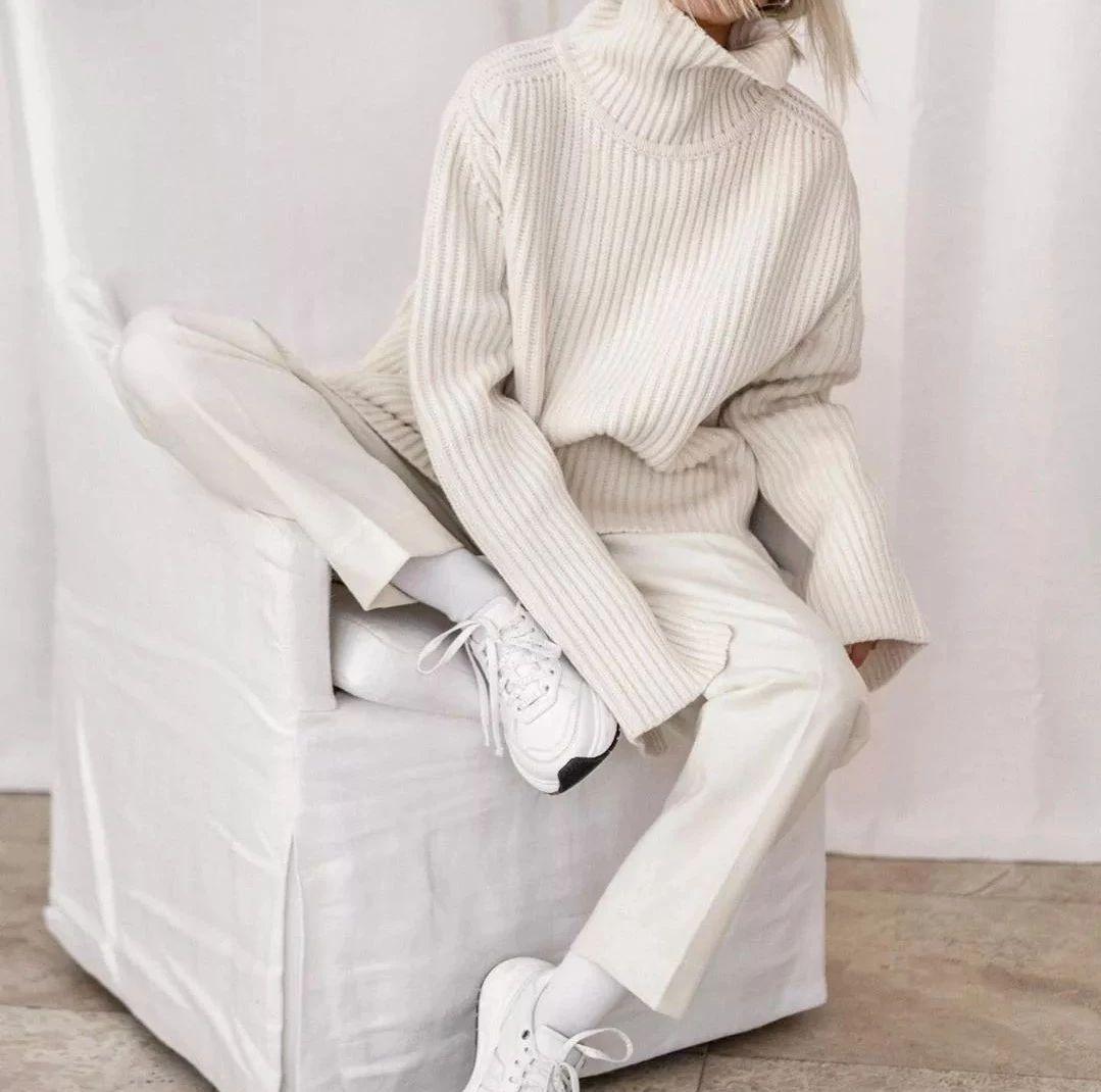 显瘦、高级的开春搭配:阔腿裤+运动鞋!