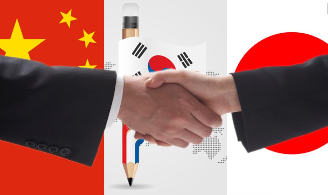 如果中日韩三国联盟,实力有多强?比美国欧盟强大?