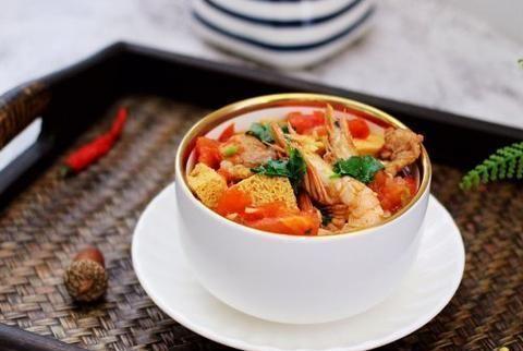 节后的低脂美食,冻豆腐海鲜炖,色泽红润更有食欲