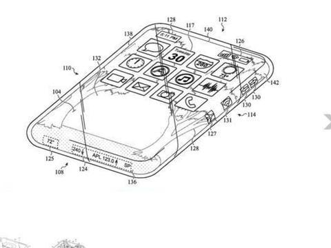苹果新专利研究环绕触摸屏全玻璃iPhone,手机整体支持触敏功能