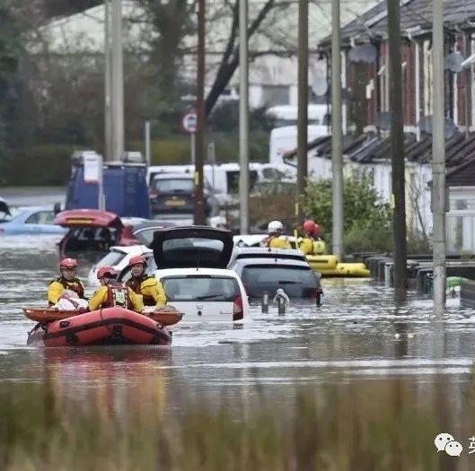 英国200年来最强洪水! 连乔治·克鲁尼家的豪宅都被淹了