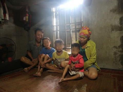 越南夫妻都智力低下生3个孩子俩患病,本来饭都吃不饱治病更难了