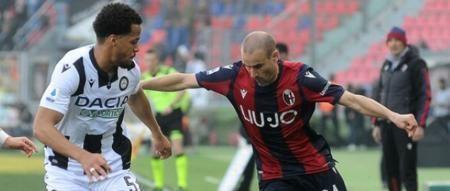 意甲:奥卡卡破门帕拉西奥绝平,博洛尼亚1-1乌迪内斯