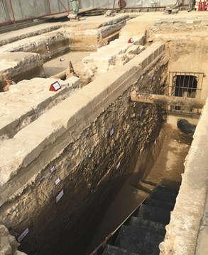 故宫南大库改线,在发掘过程中,专家发现故宫地基不为人知的秘密