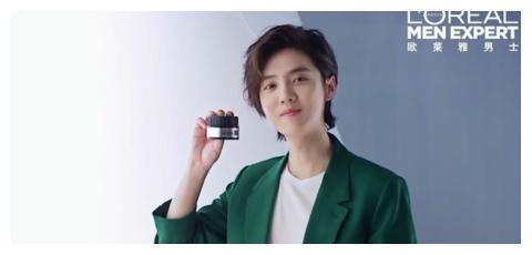 鹿晗代言男士品牌全新广告 这位型男的偏分+长发帅的有点离谱