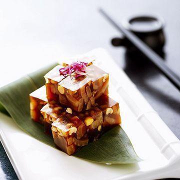 美食推荐:青椒通菜梗,芝麻牛蒡丝,杂豆肉皮冻