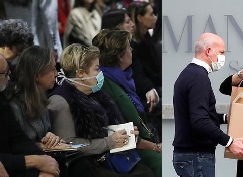 意大利疫情升温,阿玛尼率一众博主戴口罩,米兰时装周谢绝媒体